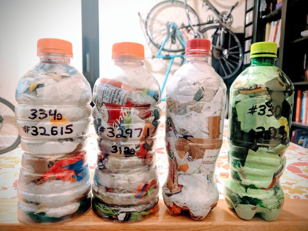 Gatorade and Pepsi Bottle Ecobricks