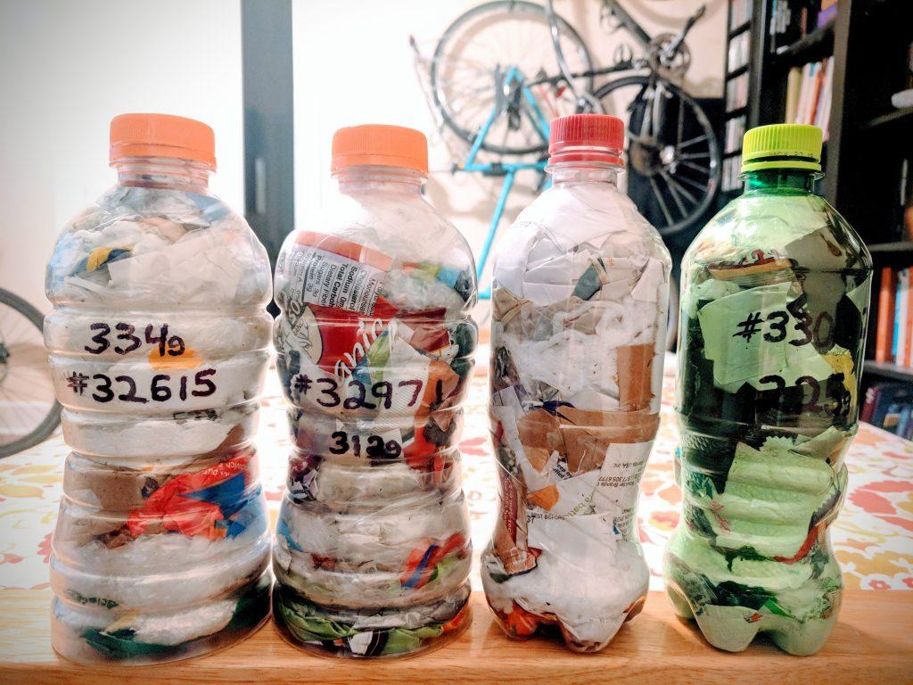 Gatorade and Pepsi Bottle Ecobricks